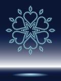 Floco de neve brilhante Ilustração do Vetor