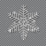 Floco de neve brilhante grande do Natal ilustração do vetor