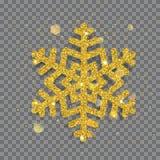 Floco de neve brilhante grande do Natal ilustração stock