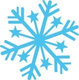 Floco de neve com detalhes da estrela ilustração do vetor