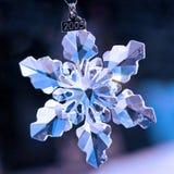 Floco de neve de cristal Fotos de Stock