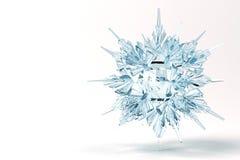 Floco de neve de cristal Imagens de Stock