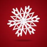 Floco de neve de papel ilustração stock