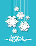 Floco de neve de papel Fotografia de Stock Royalty Free