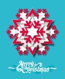 Floco de neve de papel Imagens de Stock Royalty Free