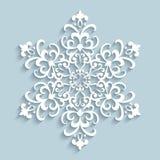 Floco de neve de papel do laço ilustração stock