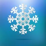 Floco de neve de papel do Natal em um azul. + EPS8 Foto de Stock Royalty Free