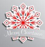 Floco de neve de papel vermelho ilustração royalty free