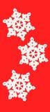 Floco de neve de três brancos Fotos de Stock Royalty Free