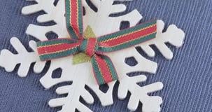 Floco de neve decorativo com uma curva video estoque