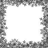 Floco de neve decorativo no fundo branco ilustração stock