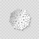 Floco de neve do corte do papel Foto de Stock Royalty Free