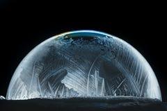 Floco de neve do globo da neve do Natal Foto de Stock