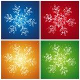 Floco de neve do Natal, vetor Fotos de Stock Royalty Free