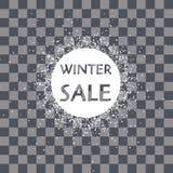 Floco de neve do quadro do círculo do vetor Neve de queda Feriados de inverno ano novo e Feliz Natal fotografia de stock