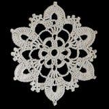 Floco de neve feito crochê Imagem de Stock Royalty Free