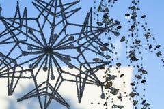 Floco de neve home da decoração do feriado imagens de stock