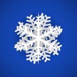 Floco de neve isolado vetor com efeito 3D Elementos do projeto do vetor ilustração royalty free