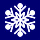 Floco de neve luminoso bonito. ilustração royalty free