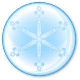 Floco de neve na esfera Fotos de Stock