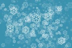 Floco de neve no fundo do sumário da cor verde Imagem de Stock Royalty Free