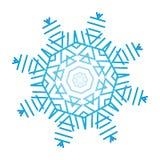 Floco de neve ornamentado ilustração do vetor