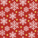 Floco de neve Pattern_Red ilustração royalty free