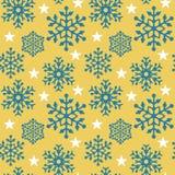 Floco de neve Pattern_Yellow ilustração do vetor