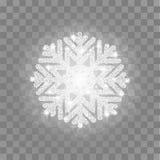 Floco de neve de prata do brilho Imagens de Stock