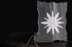Floco de neve quadro - Feliz Natal Fotografia de Stock