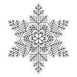 Floco de neve simples ilustração royalty free