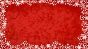 Floco de neve & 16:9 vermelho do fundo Imagens de Stock Royalty Free