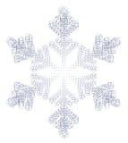 Floco e quadrados da neve Fotografia de Stock Royalty Free