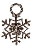 Flocon de neige, élément décoratif, d'isolement sur le fond blanc photo stock