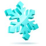 flocon de neige 3D illustration de vecteur