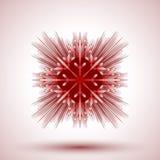 Flocon de neige abstrait Photo libre de droits
