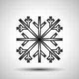 Flocon de neige abstrait Image stock