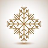 Flocon de neige abstrait Image libre de droits