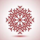 Flocon de neige abstrait Photographie stock libre de droits