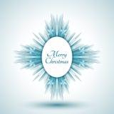 Flocon de neige abstrait avec le signe de Joyeux Noël Images stock