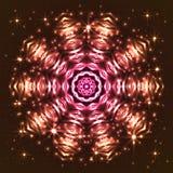 Flocon de neige abstrait brillant d'étoile Photographie stock libre de droits