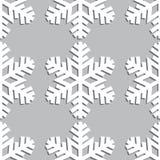 Flocon de neige abstrait décoratif seamless Images libres de droits