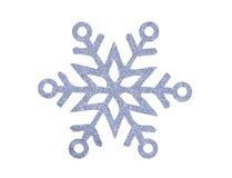 Flocon de neige argenté de Noël d'isolement sur le blanc Photos stock