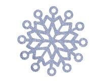 Flocon de neige argenté de Noël d'isolement sur le blanc Image stock