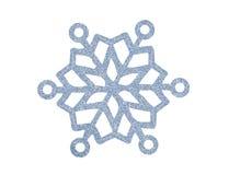Flocon de neige argenté de Noël d'isolement sur le blanc Image libre de droits