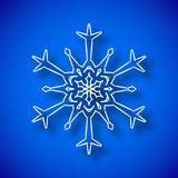 Flocon de neige avec l'ombre Images libres de droits