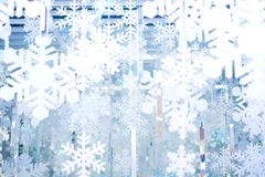 Flocon de neige blanc et bleu pour le fond ou la texture Images libres de droits