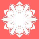 Flocon de neige blanc Flocon de neige pour des affiches, cartes, conception d'invitation images stock