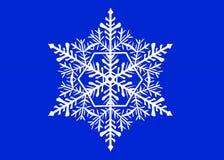 Flocon de neige blanc sur le fond bleu Illustration des flocons de neige photos libres de droits