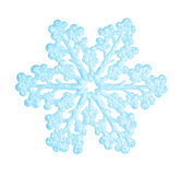 Flocon de neige bleu Image libre de droits